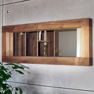 Зеркало из массива дерева ценных пород Fissure 80