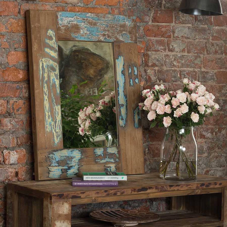 Зеркало из массива дерева ценных пород Look 85