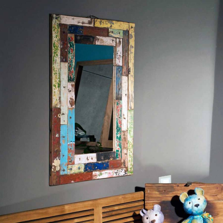 Зеркало из массива дерева ценных пород Patchwork 90