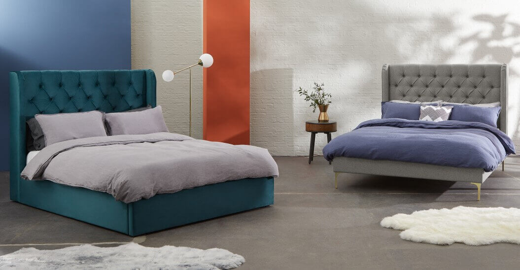 Дизайнерская кровать в современном стиле с мягким изголовьем Romero