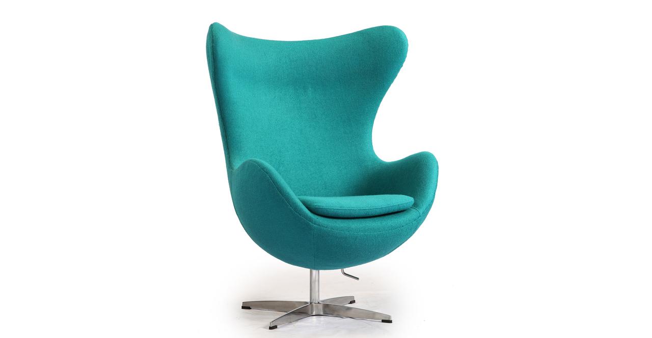 Бирюзовая мебель кресло Egg