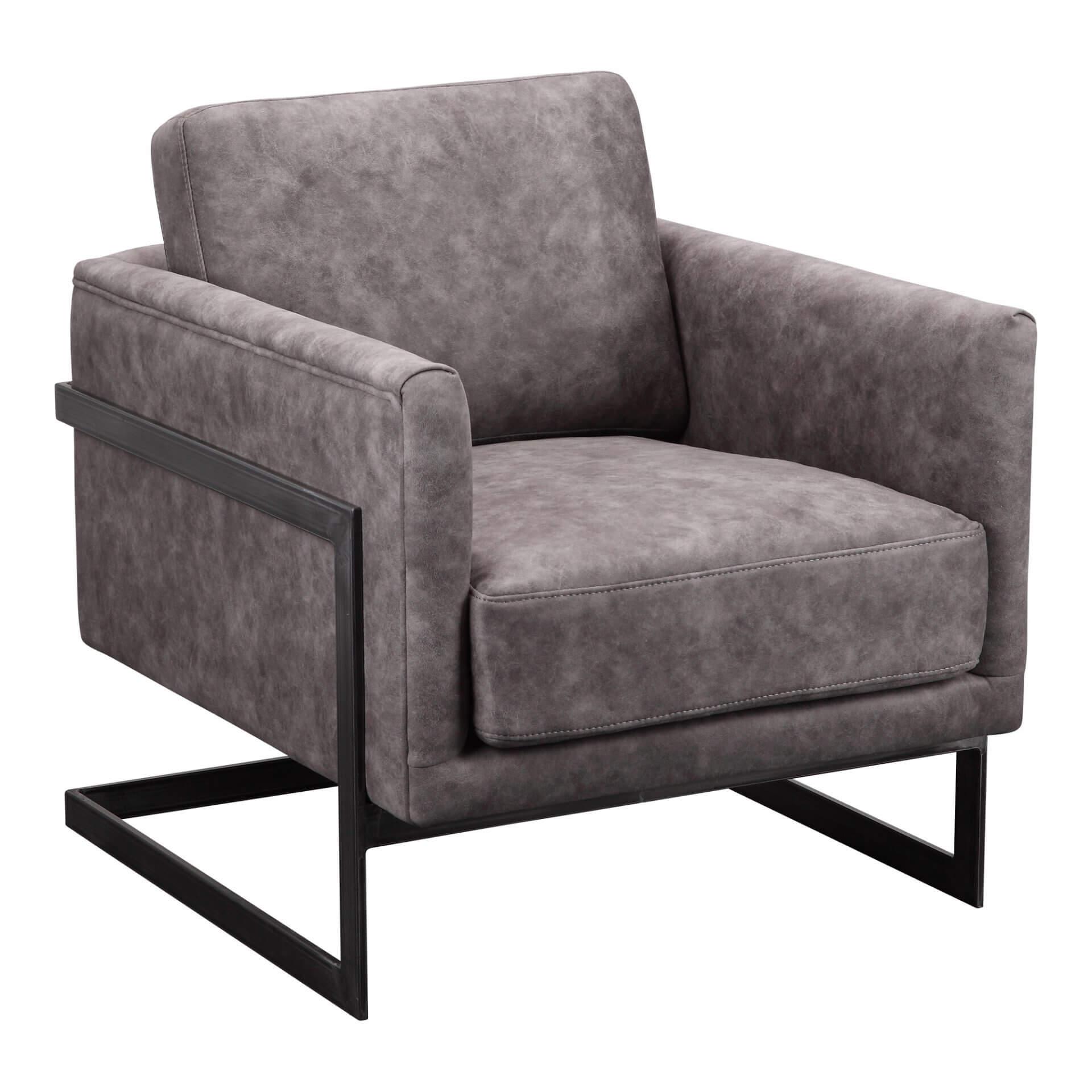 """кожаное кресло Luxley, в стиле """"Лофт""""."""
