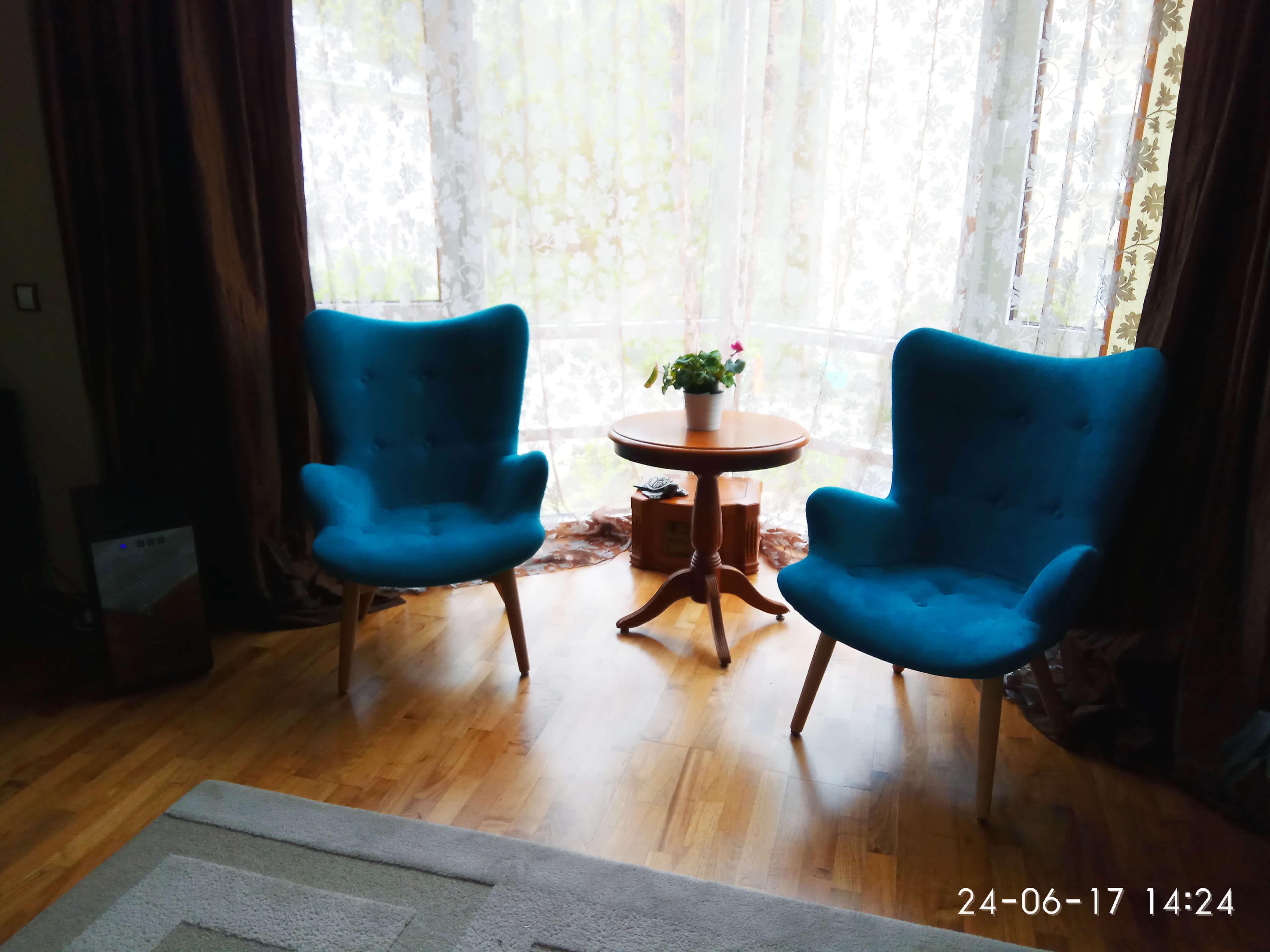Синее кресло Contour