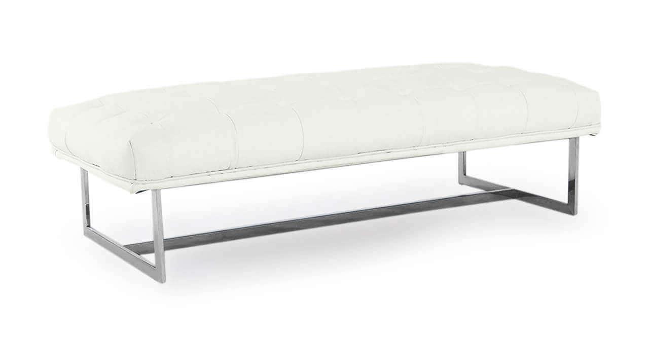 Белая скамья дизайнерская