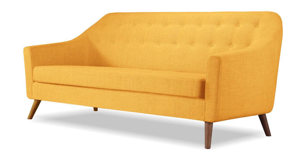 желтый тканевый диван