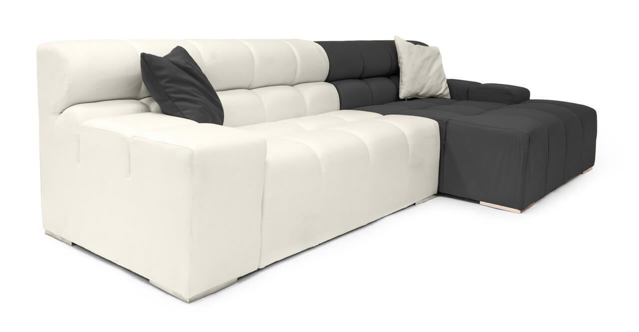 угловой диван с широкими подлокотниками