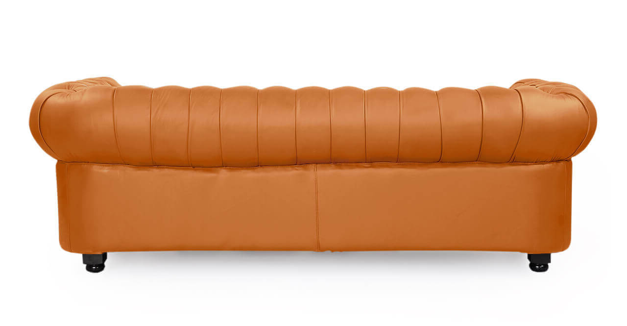 Оранжевый диван Честерфилд