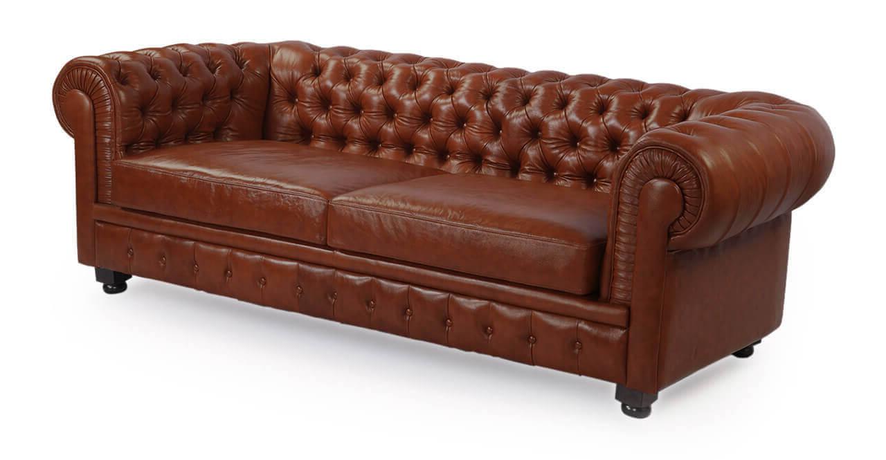 Кожаный диван Честерфилд в английском стиле
