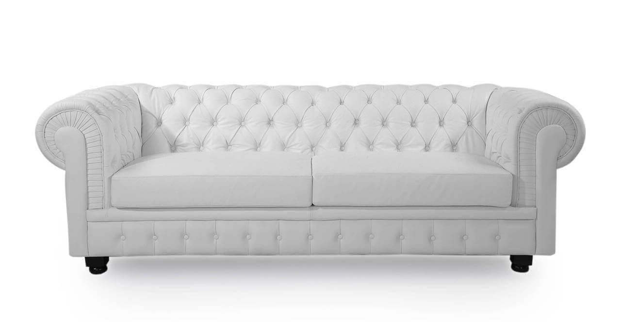 Белый диван Честерфилд -купить недорого