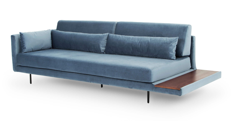 Кушетка Davenport, голубая в современном стиле модерн