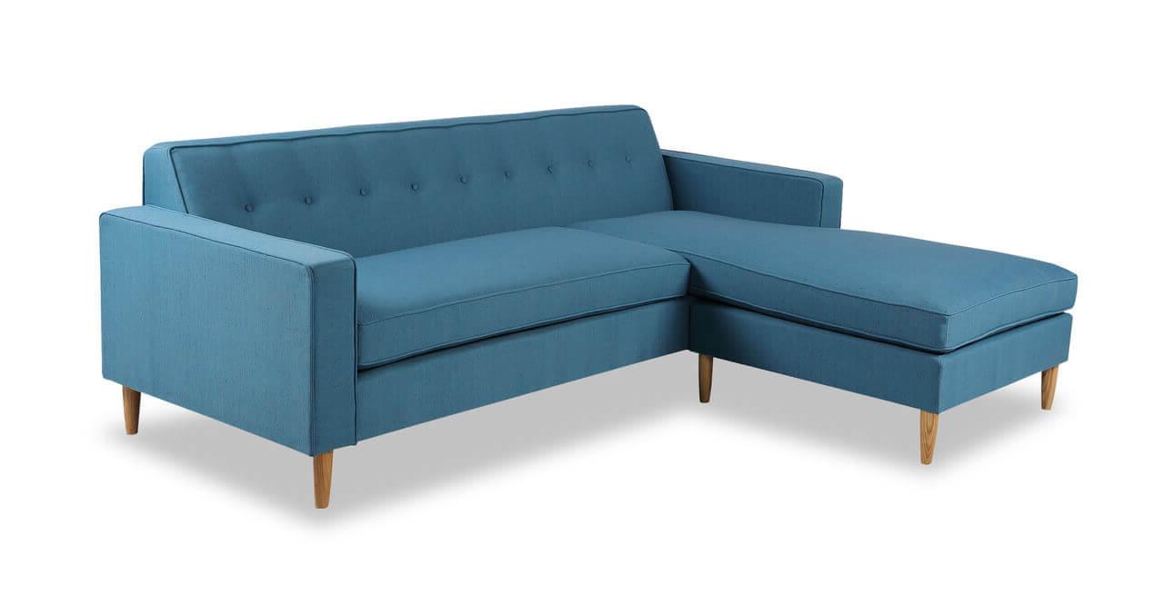 компактные диваны голубые