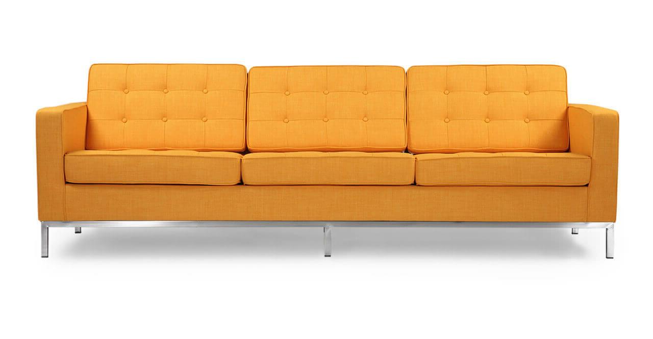 Желтый диван для фотостудии
