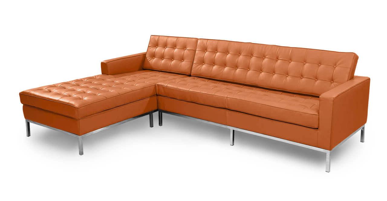 трехместный диван офисный оранжевый