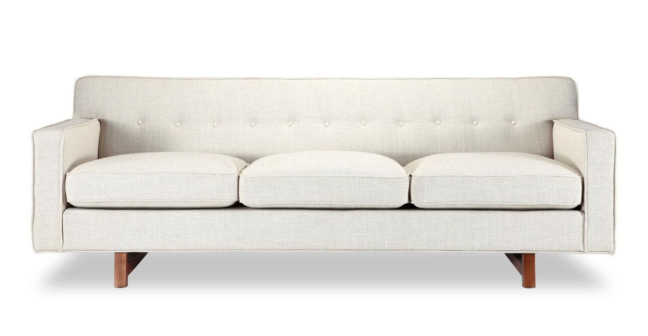 Диван, 180 см ширина, белый в скандинавском стиле
