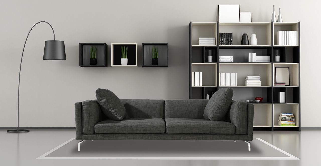 Тканевый диван серого цвета