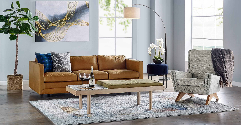 дизайнерский диван Manhattan, прямой, в современном стиле модерн