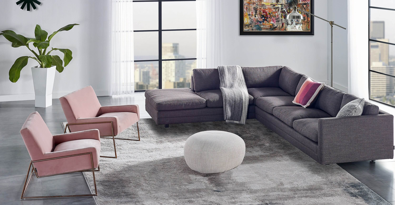 дизайнерский диван Manhattan, угловой, в современном стиле модерн