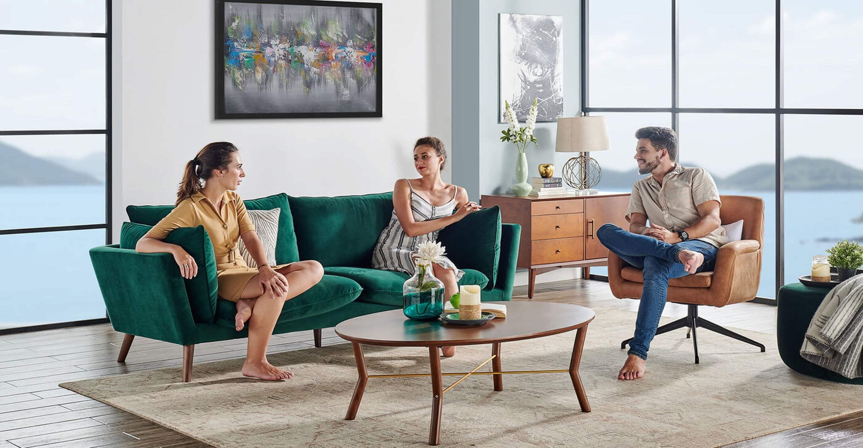 прямой  диван Michelle в современном стиле модерн