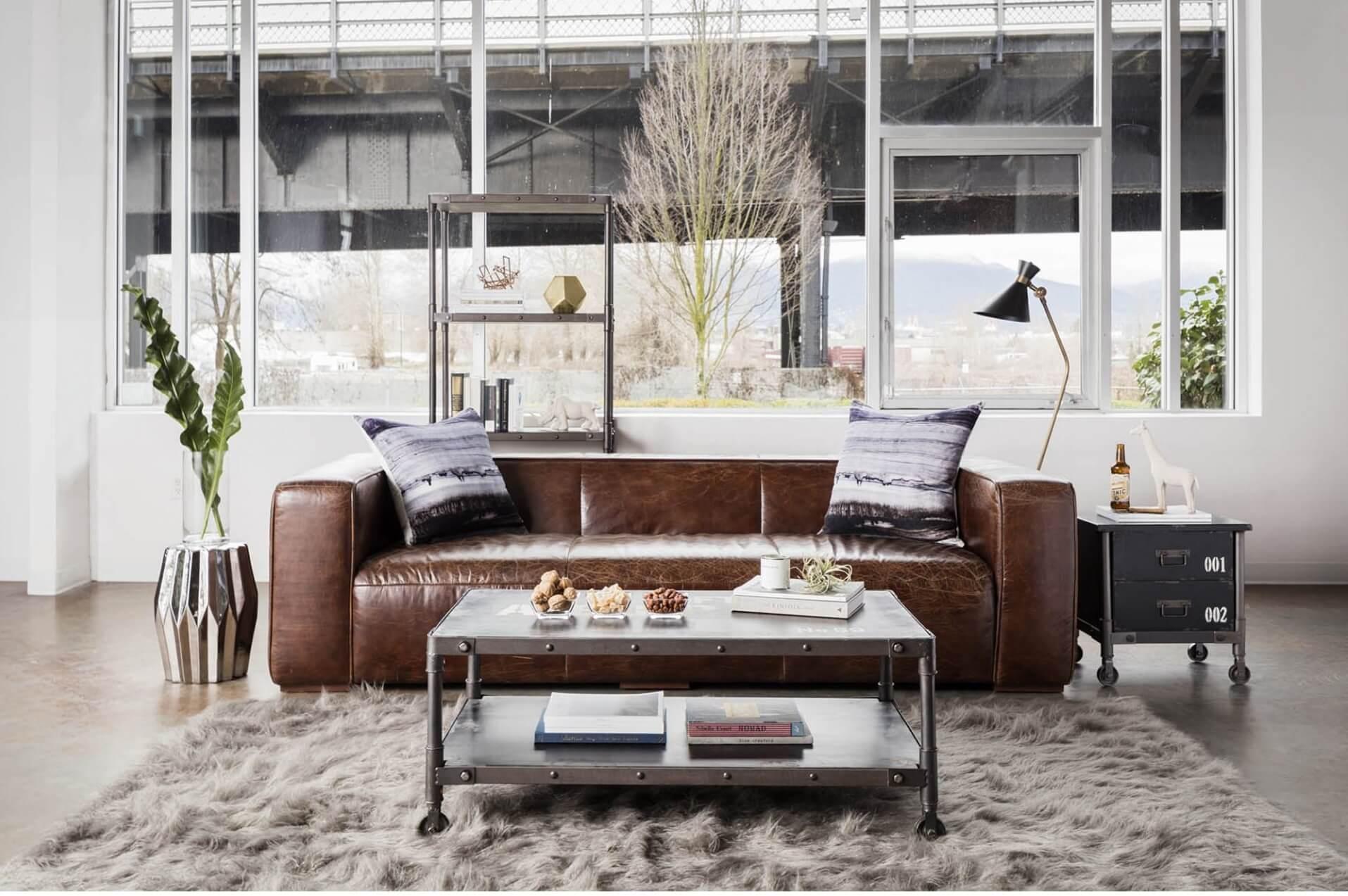 """прямой диван Parsons в современном стиле """"Лофт"""""""
